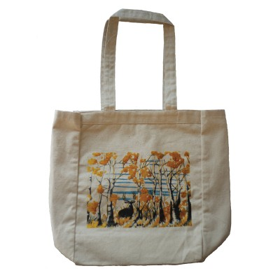 Tote,Bag,Deer,Fall,Art,FullCurl,Full Curl,Apparel,Clothing,Full Curl Brand,